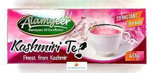 KASHMIRI TEA - PINK TEA - 40 INSTANT TEA BAGS - ALAMGEER - 2 x 40g