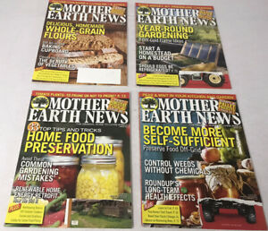 Mother Earth News Magazines~4 Issue~Gardening Canning Homesteading Beekeeping