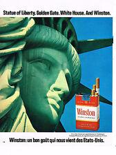 PUBLICITE ADVERTISING 045  1971  WINSTON  cigarettes