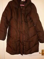 Larry Levine Brown Down Coat Size L Uk 14-16