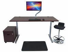 Electric Adjustable Sit Stand Desk with On-Desk Power Source