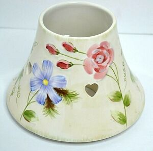 Yankee Candle Large Ceramic Jar Shade Topper/ Valentines Flowers (Floral&Hearts)