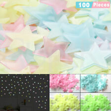 100pieces Glow In The Dark Stars Night Light Wall Stickers Decal Kids Room Home