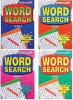 Set Von 4 A5 Erwachsene Wortsuchrätsel Puzzle Books 160 Seiten Jedes Reise Größe