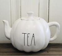Rae Dunn Thanksgiving Fall By Magenta TEA LL Pumpkin Shaped Ceramic Teapot