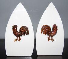 Vintage V.G. Inc. Iron with Rooster Salt & Pepper Set