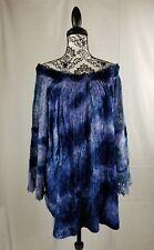 Indigo Thread company women's off the shoulder long sleeve lace inset top sz 3x