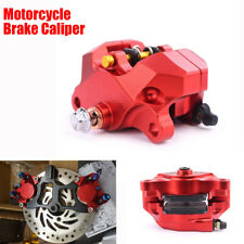 Motorcycles Brake Caliper 84mm Mounting Red Aluminum Alloy With Pads Banjo Bolt