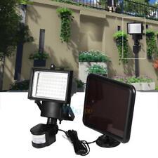 Solar Luz 60 LED Lámpara Sensor de Movimiento PIR Seguridad Para Jardín Exterior