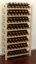 Stackable 120 Bottle Capacity Wine Rack Wooden Stand, WN60-Q2