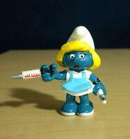 Smurfs Nurse Smurfette 20139 Smurf Doctor Vintage Figure PVC 80s Toy Figurine