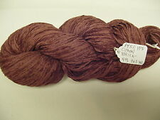 Cotton Chenille Yarn 1450 Ypp 1 Skein 4 oz. 365 yds.Color Brick.
