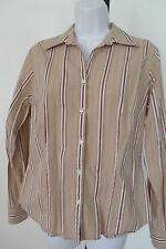 Wmns Shirt/Blouse – Ann Taylor LOFT - SIZE Medium Long sleeve striped