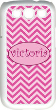 Monogrammed Pink Chevron Design Samsung Galaxy S3 Case Cover