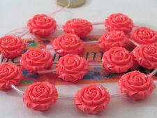 1filo roselline doppie  dritto rovescio in composto cristallizzato 21x11mm  rosa