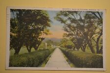 WALKWAY IN CITY PARK IN NORFOLK VIRGINIA 1928  POSTCARD **FREE SHIPPING**