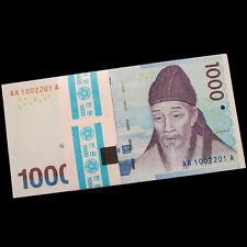 Bundle Lot 100 PCS,South Korea 1000 Won, 2007, P-54, UNC