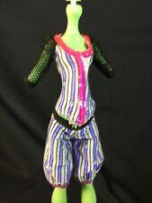 Monster High Doll Replacement CLAWDEEN WOLF Baseball Purple Shirt Shorts Outfit