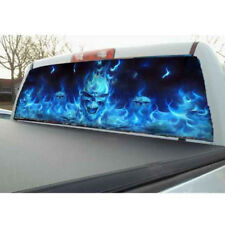 Flaming Skull Ghost Rear Window Tailgate Tint Decal Film for Truck Pickup SUV 1x