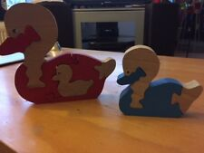 2 Puzzles canards en bois