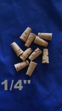 CORK stopper plug round tapered style crafts fishing lab wine all natural *1/4*