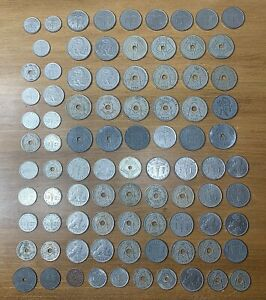 Belgium coin lot of 88 - Early / Mid 1900s