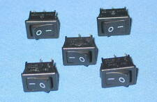 Lot of 5 Canal CEC Black MR-2 6A 125VAC Single Pole Mini Rocker Switches ON-OFF