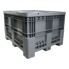 More details for new strong plastic pallet storage box boxes 1200x1000x750mm static or mobile lid
