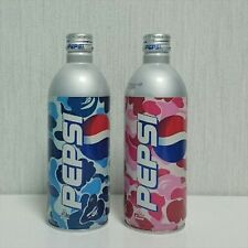 BAPE A Bathing Ape Pepsi Empty Bottle 500ml Cans Set of 2 Blue Pink opened