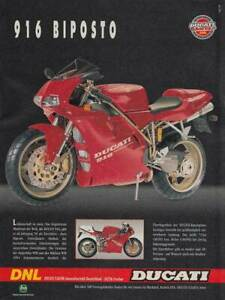Ducati 916 Biposto - Reklame Werbeanzeige Original-Werbung 1995