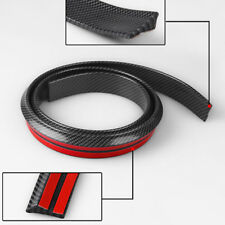 4.9ft 3D Carbon Fiber Car Rear Wing Lip Spoiler Tail Trunk Roof Trim Kit Solid
