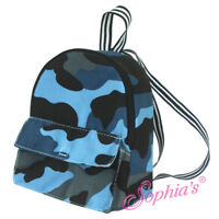 18 Inch Doll Backpack - Fits American Girl Dolls - Blue Camouflage - AG Doll