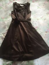Beautiful PEPPERBERRY Party/ Evening Dress-size 8 Curvy. Chocolate Brown. VGC