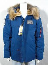 ALPHA INDUSTRIES USAF Military/Field N-2B Down Parka Murmansky Fur Blue size XL