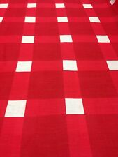 """Sheeting Fabric Red / White Check 100% Cotton 94"""" 240 Cm"""