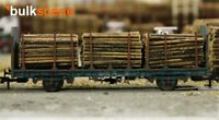 BULKSCENE - SMALL DIAMETER MODEL TIMBER LOGS FOR OO/HO GAUGE WAGONS - BULK PACKS