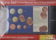 Europa 5 Cent Euro-Munten uit 10 verschillende Landen Postzegels-10 verschillend