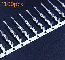 100pcs 2.54mm Dupont Jumper Wire Cable Housing Male Connector Terminal Crimps