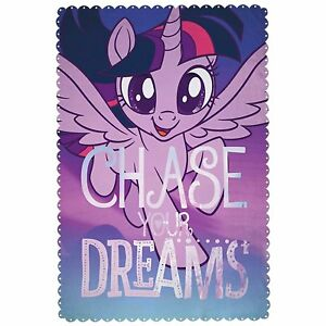 EXTRA LARGE New My Little Pony Super Soft Fleece Blanket Girls Bed Throw Gift