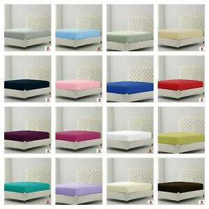 Small Single Bunk Bed Fitted Bed Sheet Poly Cotton Dyed 2 Ft 6 Inch 76 x 190 cm