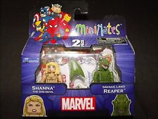 SHANNA SHE-DEVIL and SAVAGE LAND REAPER MINIMATES FIGURES NEW SEALED L@@K