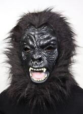 Tiermaske Vollkopfmaske Gorilla schwarz Tier Maske voll Kopf Fasching