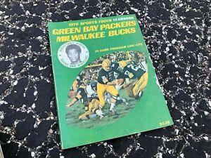 1970 GREEN BAY PACKERS - MILWAUKEE BUCKS sports focus yearbook STARR - JABBAR
