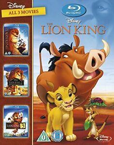The Lion King 1-3 [Blu-ray] [1994] [Region Free] [DVD][Region 2]
