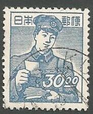 Japan Scott# 434, Postman, Blue, 30y, Used, 1949
