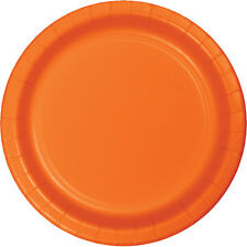 "24 Sunkissed Orange  Wedding Birthday Party Tableware 9"" Paper Lunch Plates"