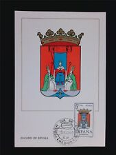 SPAIN MK 1965 ESCUDO SEVILLA WAPPEN BLAZON MAXIMUMKARTE MAXIMUM CARD MC CM c5971