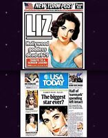Elizabeth Taylor Newspaper Lot of 2 Different Tribute 2011 NY Post USA Today Liz