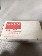 BOXED  SONY Cassette Recorder TCM-737 Vintage Retro Tape Recorder - Rare Retro