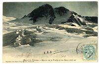 CPA 38 Isère Massif du Pelvoux Glacier de la Pilatte et les Bans animation